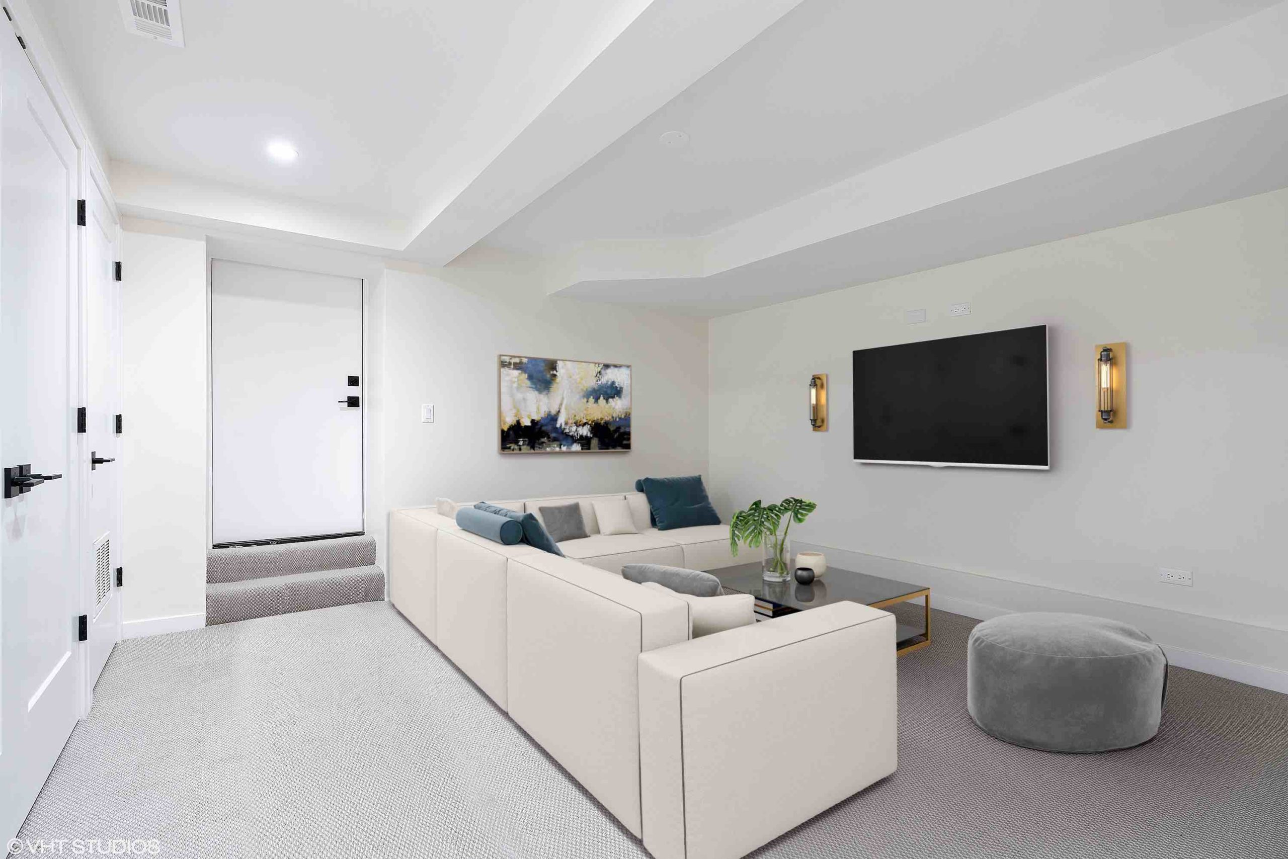 Lo Res Staged 2335 Altgeld Family Room | Basement
